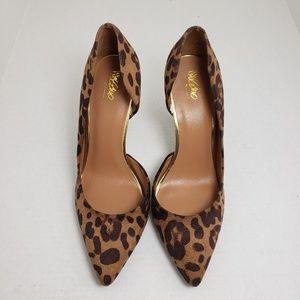Mossimo Closed Toe Leopard Print Heels Sz 9.5